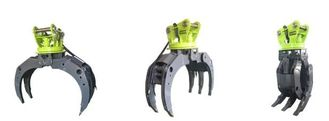 Rock Grapple Excavator Attachment High Quality Material Good Abrasive Resistance