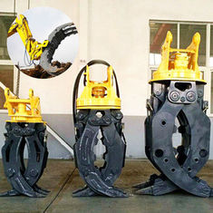 Rock Grapple Cat Excavator Attachments Large Open Dimension High Wear Resistance
