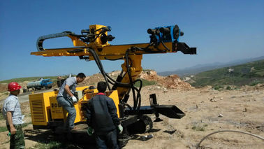 Geotechnical Anchor Drilling Rig , Rock Drilling Equipment Crawler Mounted